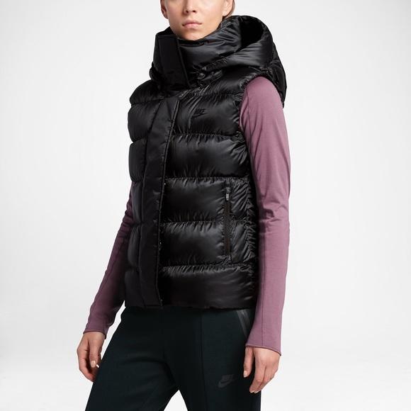b107f70946d36 Nike Jackets & Coats | Hooded Down Vest | Poshmark