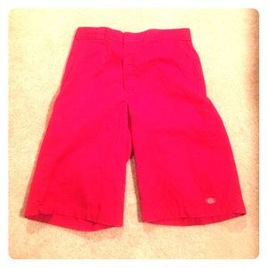 Pants - Red Dickies shorts