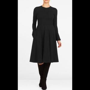 eshakti Dresses & Skirts - New Eshakti Black Knit Fit & Flare Dress M 8