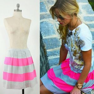 J.Crew Skirt | Pink+Silver Wide-Stripe Mini Skirt
