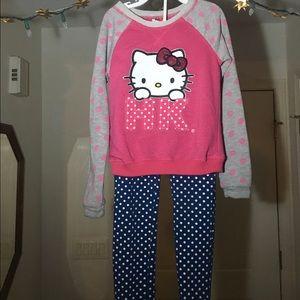 Girls Hello Kitty sweatshirt and pants set