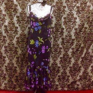 Onyx Dresses & Skirts - NWT Onyx Flowing Hem Floral Slip Maxi Dress