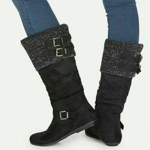 *LIKE NEW JustFab Black Boots