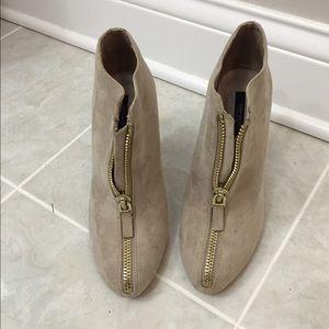Zara zip ankle booties