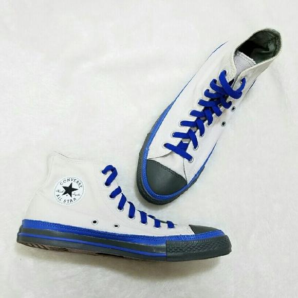 Converse Shoes | All Star High Top Custom Color Blue | Poshmark