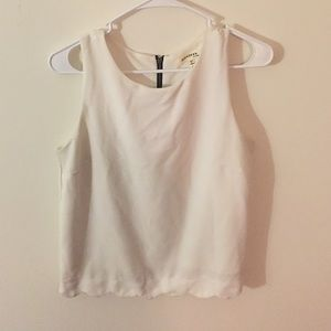 White Scalloped Top