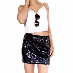 Anthropologie Dresses & Skirts - Anthropologie bailey 44 black sequin skirt
