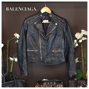 Balenciaga Jackets & Blazers - Balenciaga Black Leather Moto Jacket