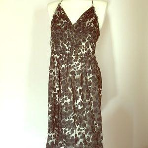 mandee Dresses & Skirts - Pretty Kitty Leopard Print Pinup Halter Dress L