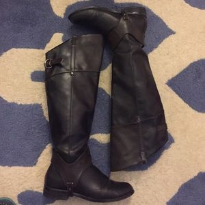 Restricted Shoes - Leather Riding Boots