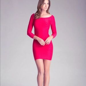 Bebe Pink bodycon textured dress. NWOT small
