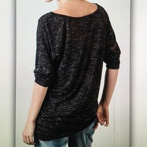 Tops - 🎱Boat neck🎱high low asymmetrical 3/4 sleeve tee