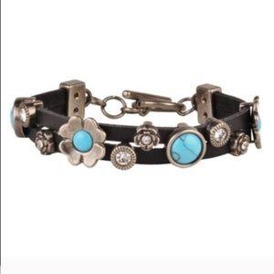 The DENA turquoise toggle bracelet - BLACK