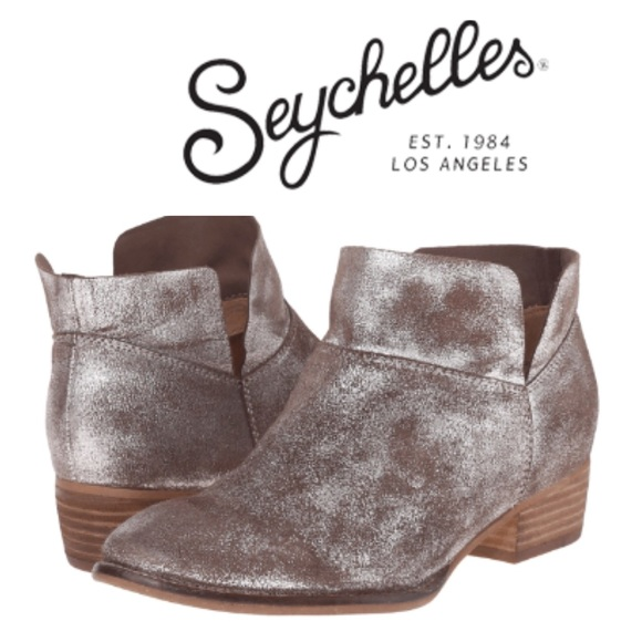 4d82a38ecb89 Seychelles Shoes | Snare Pewter Metallic Booties | Poshmark