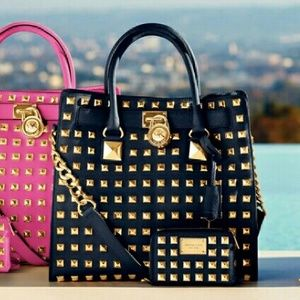 3376627f75e7 Michael Kors Bags - Michael Kors Hamilton Studded Tote Bag