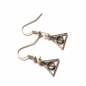 Hot Topic Jewelry - Harry Potter Deathly Hallows Dangle Earrings