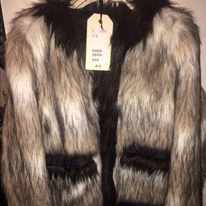Lanvin for H&M Jackets & Blazers - LANVIN for H&M FAUX FUR JACKET