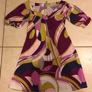Pucci Like Fun Pattern Flirty Dress New - Small