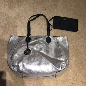 Michael Kors Handbags - Michael Kors large silver/black reversible bag
