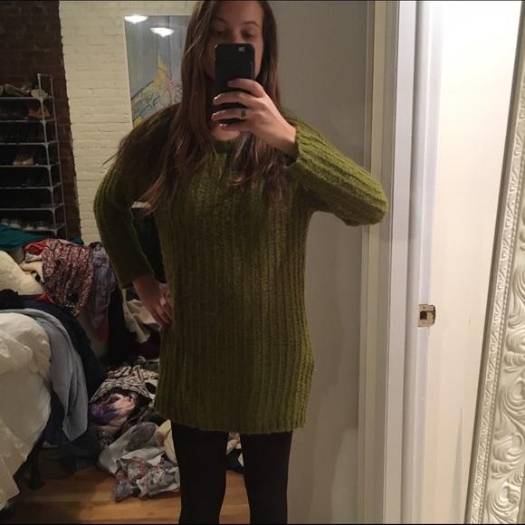 80% off Zara Sweaters - Zara green wool knit oversized sweater ...