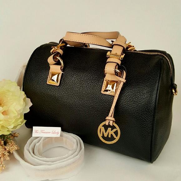 michael kors bags mk grayson black satchel purse bag poshmark rh poshmark com
