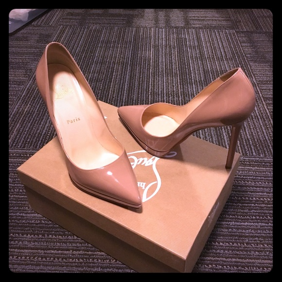 adf52eb671c5 Christian Louboutin Shoes - Beautiful Nude Louboutin Pigalle Size 40!