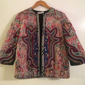 Zara Patterned Jacket Size Medium