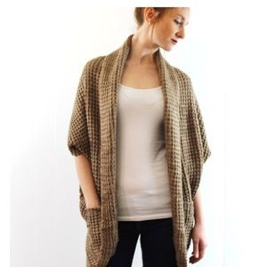 Sweaters - Chunky Knit Cardigan Sweater