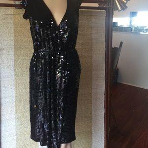 Michael Kors Sequined Wrap Dress
