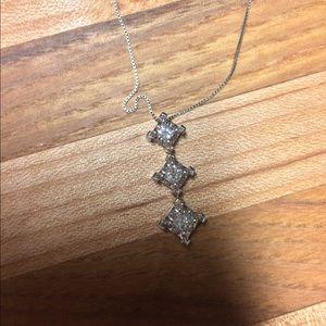1/2 ct three tier diamond necklace open to trade