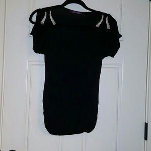 Tops - NWOT Black cold shoulder top