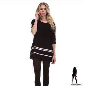 Tea n Cup Tops - Tea N Cup Black Short Sleeve Tunic OSFM