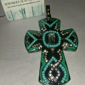 Jewelry - Statement Gem stone Cross pendant