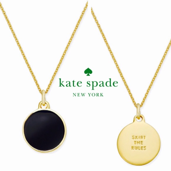 Kate spade kate spade skirt the rules disc pendant necklace kate spade skirt the rules disc pendant necklace aloadofball