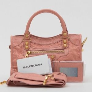 Balenciaga Handbags - Balenciaga small classic giant city pink rose NWT