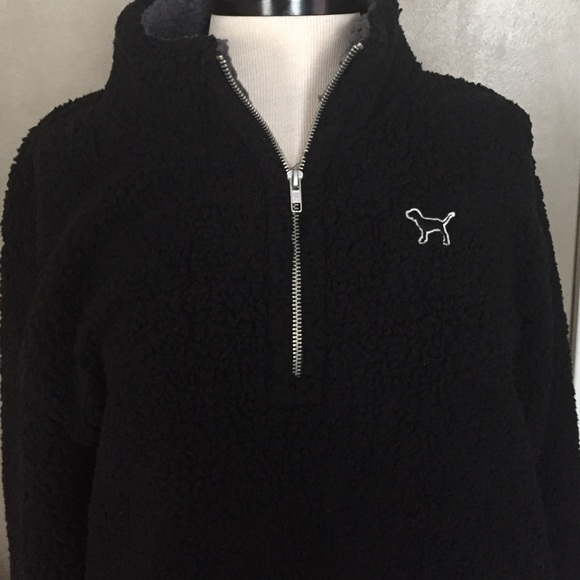 PINK Victoria's Secret - VS pink sherpa pullover jacket 1/4 zip ...