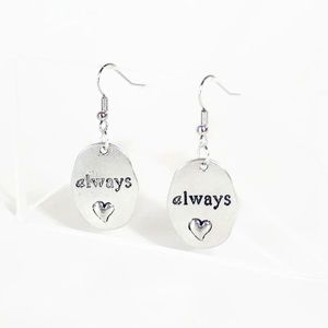 Hot Topic Jewelry - Harry Potter Always Snape Quote Stamped Earrings