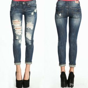 Distressed Ankle SKINNY Denim || SIZE 26 and 28