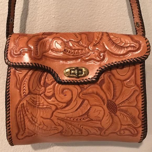 Hand Tooled Leather Crossbody Bag Handbag. M 5850171378b31c299207c1ed 5d8c575d273f8