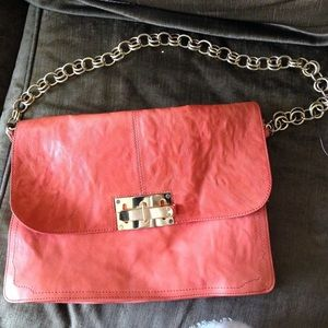 ASOS Handbags - Asos peony red bag with metal chain & bow closure