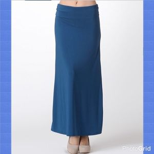 Bellino Clothing Dresses & Skirts - Bellino Teal Maxi Skirt