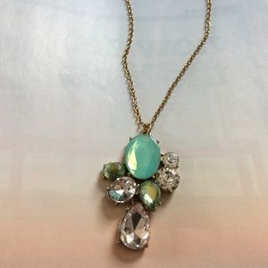 J.crew Crystal Cluster Pendant Necklace, NWT.