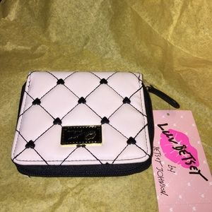 Betsey Johnson black & white heart wallet