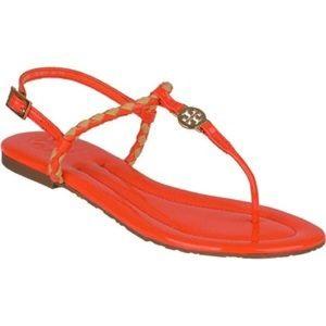 Orange Tory Burch sandals