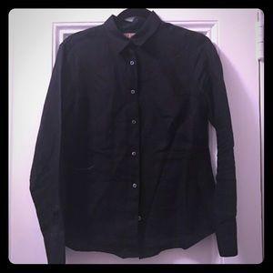 Thomas Pink Tops - Thomas Pink black linen button down UK12/US10