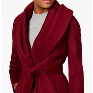 Elie Tahari Red/Burgundy/Bordeaux Mid length coat