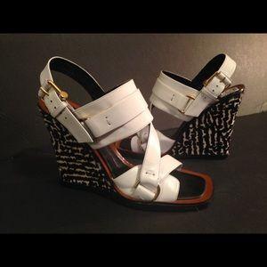 Derek Lam Shoes - Derek Lam calfskin and white straps sandals