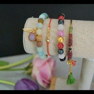 Function & Fringe Jewelry - •Silk Wish Bracelet•