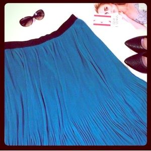 Sejour Dresses & Skirts - SEJOUR BY NORDSTROM Teal Pleated Chiffon Skirt