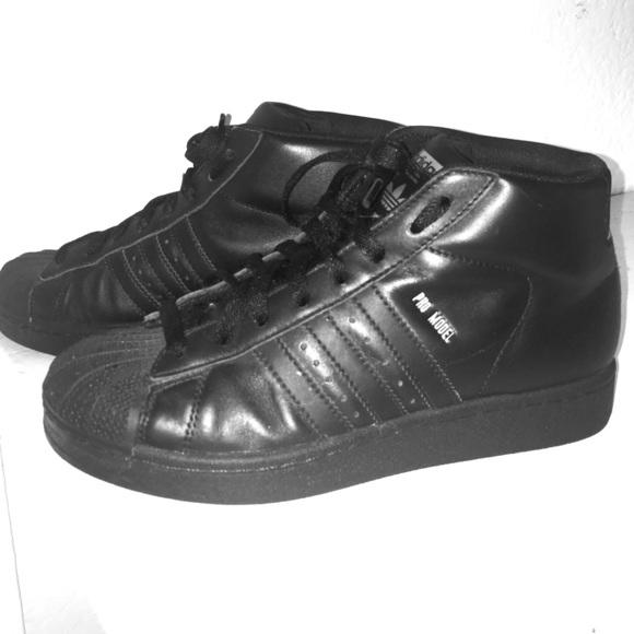 7c9d314dddaa Adidas Shoes - Adidas Pro Model Black Gold Originals Basketball